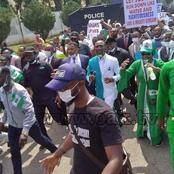 This Man Is The Only man Of God Who Joined The Protest Physically (Photos)