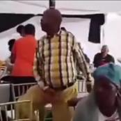 Old Man Embarrasses Wife, Refuses To Sit Down After His Wife Begged Him, See What He Did (Video)