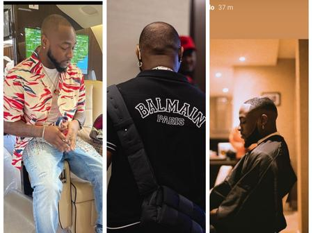 Davido makes a slight change in his style of haircut, see what his new haircut looks like