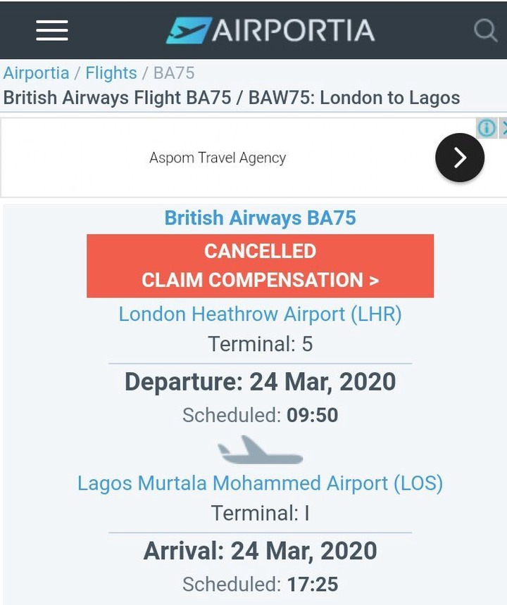 British Airline to Land in Lagos Today Despite Government Order to Shut Down Airport, See Tickets - c3c473a36a815954aa291318c77290dc quality uhq resize 720 - British Airline to Land in Lagos Today Despite Government Order to Shut Down Airport, See Tickets British Airline to Land in Lagos Today Despite Government Order to Shut Down Airport, See Tickets - c3c473a36a815954aa291318c77290dc quality uhq resize 720 - British Airline to Land in Lagos Today Despite Government Order to Shut Down Airport, See Tickets