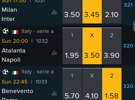 Italy Serie A Predictions With 98.76 Total Odds. Kick off 23:45pm