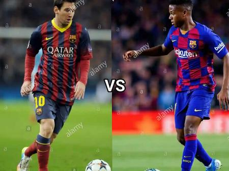 Who have better records? Comparing Ansu Fati to a young Lionel Messi