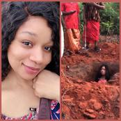 Actress, Chiamaka Nwokeukwu Shares Behind The Scenes Moments Of Her Buried Alive