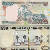 Two Cows Are Drawn On N200 Notes, See What Is Drawn On 500 Rwandan Franc Notes