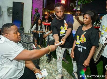 Celebrity Barman Gifts Performers Cash, Phones & Other Things In His Clubhouse (Photos)