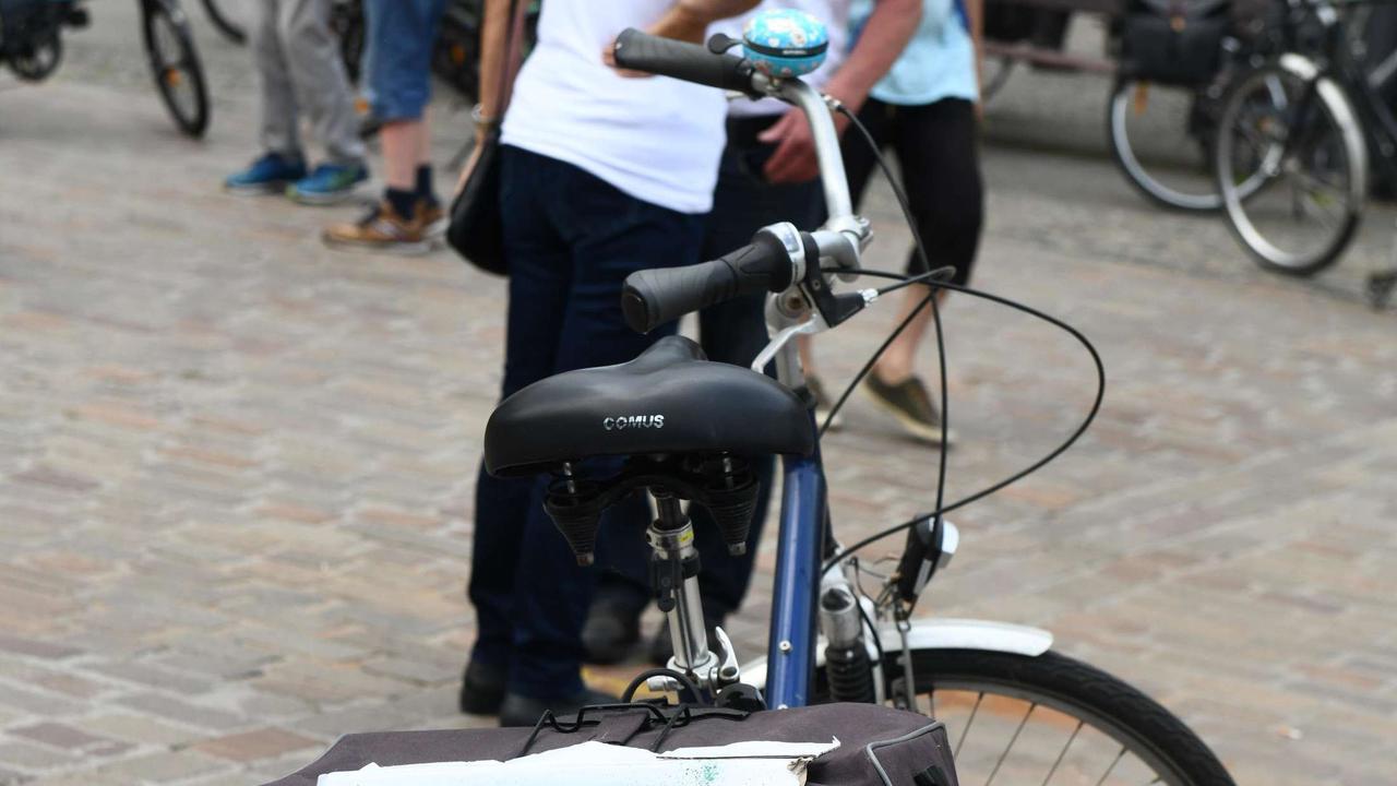 Fahrrad-Demonstration gegen den Weiterbau der A445