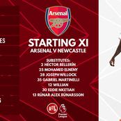 Arsenal Squad To Face Newcastle United