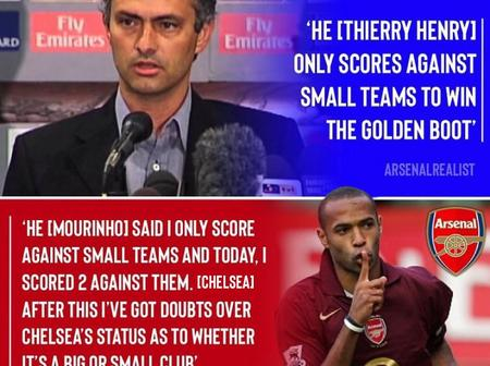 A Good Reminder On How Thierry Henry Silenced Mourinho With Actions