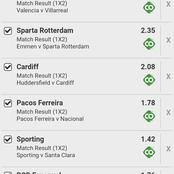 6 Perfect Matches With 168 Total Odds To Give You Huge Money This Friday.