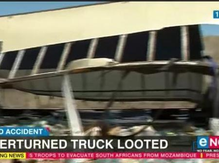 Winburg residents have looted an overturned a truck