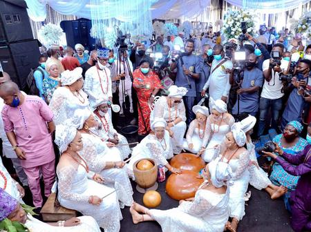 82 year old Alaafin of Oyo married his 13th wife, Chioma.Things you need to know about her