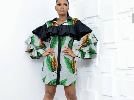 Unique And Trending Ankara Short Gown Styles For Cute Ladies.