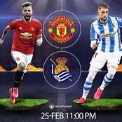 Manchester United To Face Real Sociedad Tonight