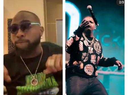 Reactions As Davido Posted A Video Of Himself Freestyling To A South African Song Titled 'Ke Star'