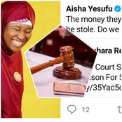 Aisha Yesufu, Others React As Abuja Court Sentences A 40-Year-Old Man To Jail For Stealing Candy
