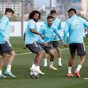 Photos: Real Madrid Stars Resume Training Ahead Of Champions League Showdown With Liverpool