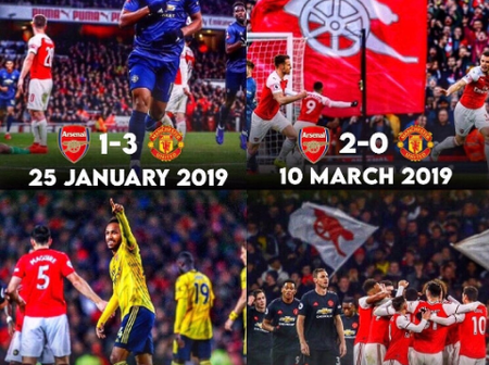 Manchester United Vs Arsenal: Last Four Matches In Different Competitions