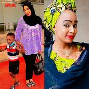 Former Kannywood Actress, Fati Muhammad Shows off her Son In New Photos