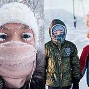 The Coldest Village In The World Where It's So Cold Even Eyelashes Freeze (See Pictures)