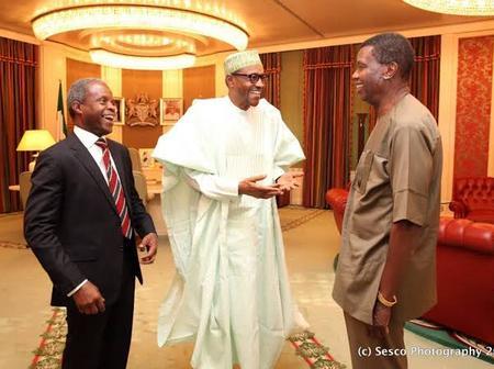 Photos Of Adeboye With Muhammadu Buhari, Yemi Osibanjo, Johnson Suleman And Others