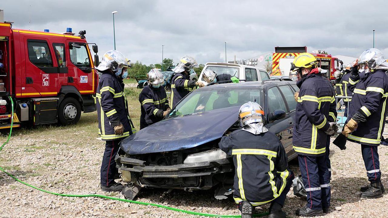 50 sapeurs-pompiers en formation à La Cavalerie