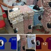 Mi-mars /Retour de Gbagbo : Voici les pagnes et tee-shirts de ce grand jour