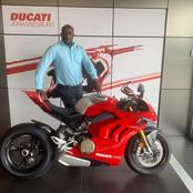 Rendani the first person in Africa to buy a Supperleggera V4