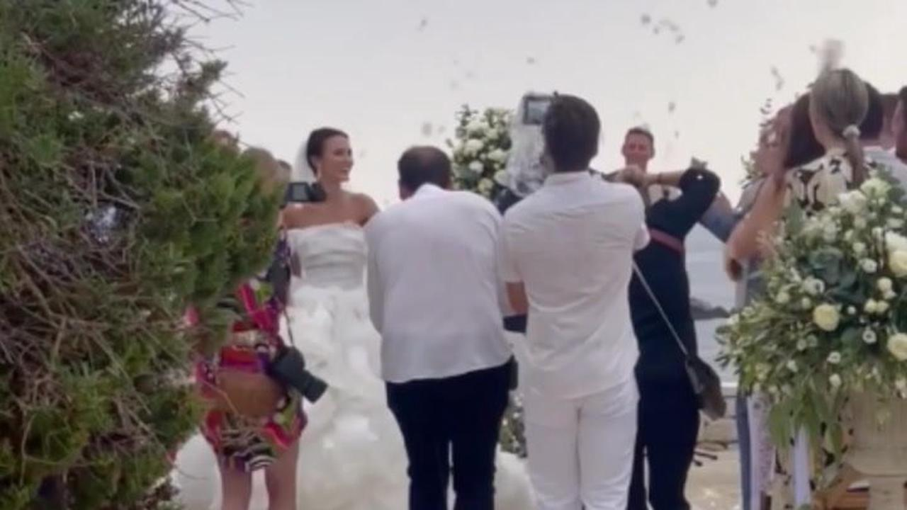 Lucy Watson says she cried all morning on her wedding due to rain