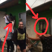 See How This Boy & A Girl Pulled-off The Window Of A building While Partying