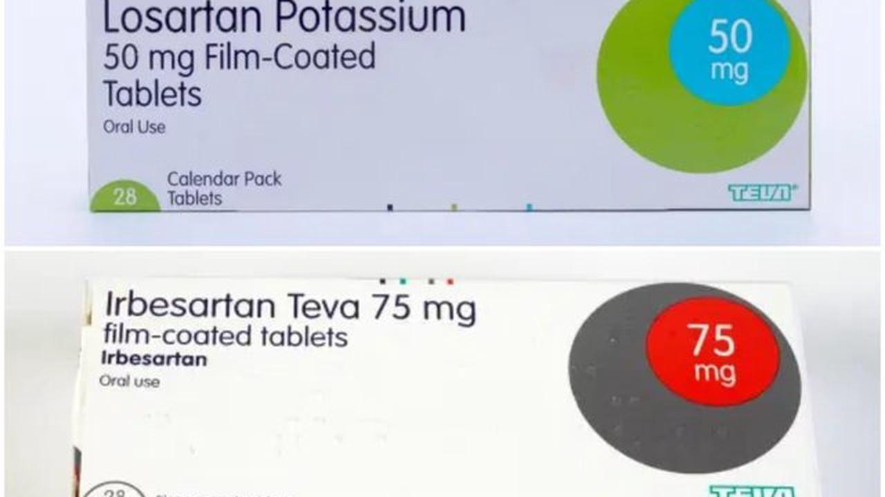 Common blood pressure drugs recalled over fears ingredient 'increases cancer risk'