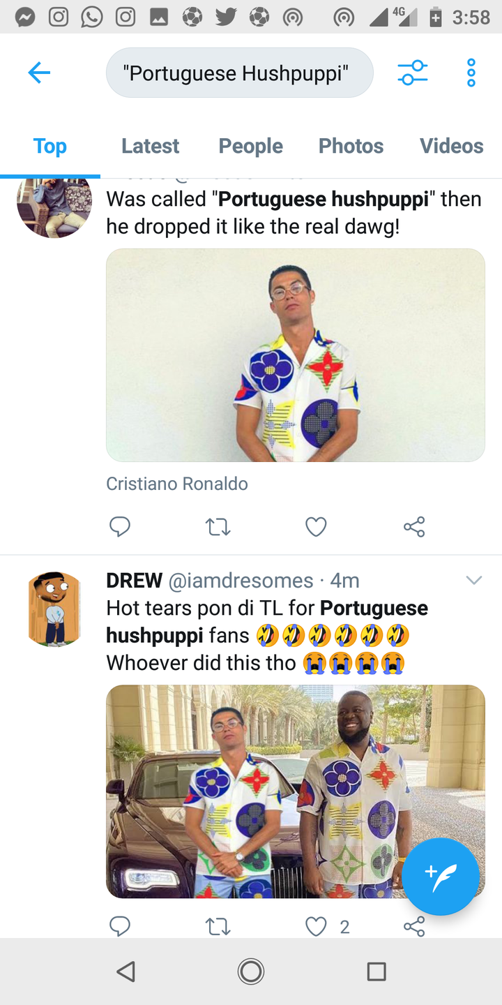 c645bb401040ed82c3f145bc2b36b51e?quality=uhq&resize=720 - Reactions As Viral Photograph of Ronaldo Rocking Hushpuppi's Costume Noticed On-line