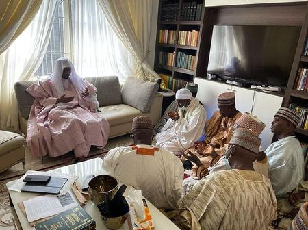 Sheikh Tijjani Agege Pays A Courtesy Visit To Emir Sanusi Lamido At His Residence In Lagos [PHOTOS]
