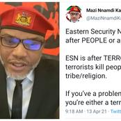 Nnamdi Kanu Clears The Air On What The Eastern Security Network Is All About