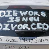 Man celebrates divorce in style