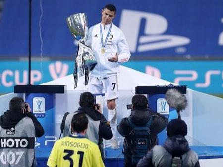 'I don't have any space left for this trophy in my trophy room' Christiano Ronaldo gets a caption