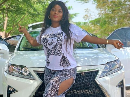 Celebration As Fast Rising Actress, Abigail Nebechi Buys A Brand New Car
