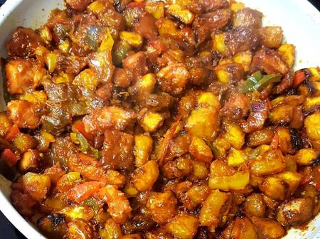 How to make Gizdodo - Peppered Gizzard and Plantain