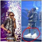 VIDEO: Laycon Reveals Why He Wore A Big Shoe To The 14th Headies Award That Stirred Reactions.
