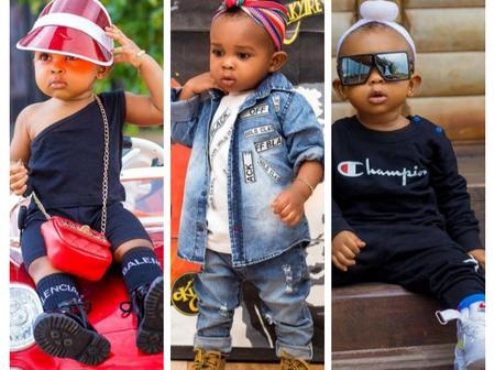 20 pictures of strongman's daughter that proves she's the most fashionable kid in Ghana.