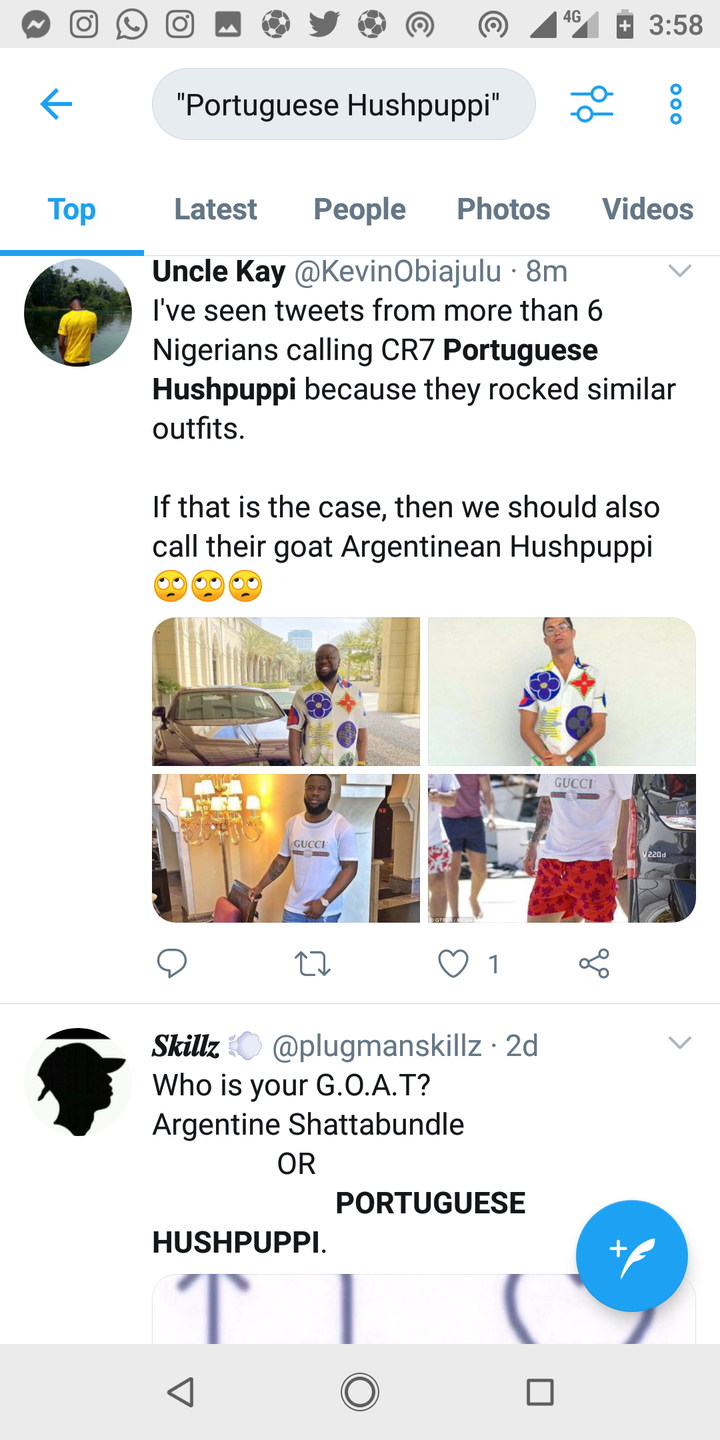 c6c25bd0fc1718c291b8190e31952514?quality=uhq&resize=720 - Reactions As Viral Photograph of Ronaldo Rocking Hushpuppi's Costume Noticed On-line