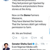 #Borno trends on Twitter as UN says as death toll of farmers killed now 110
