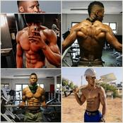 Generation Actors Bodybuilders Gadaffi and Luyolo Here is their pictures