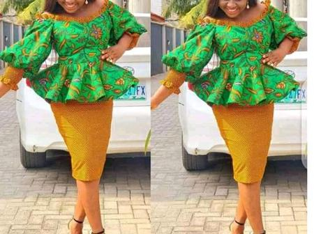 Stylish Beautiful Ankara Short Skirt And Blouse For The Stylishly Modest Damsels
