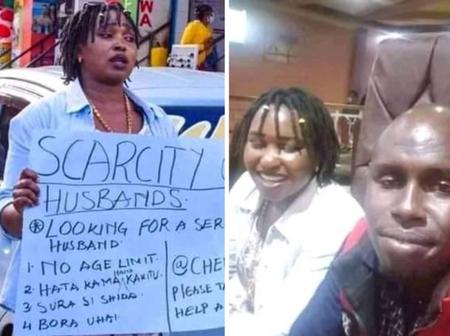 Lady Who Took To The Street To Look For A Husband Spotted With A Potential Suitor