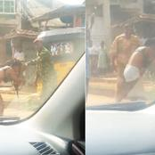 Reactions after a military man beat up a lady and stripped her for allegedly dressing indecently