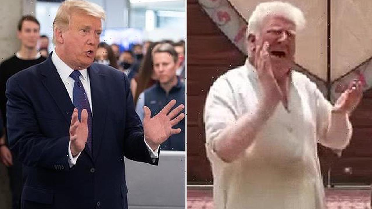 Albino ice cream man in Pakistan hailed as Donald Trump doppelgänger