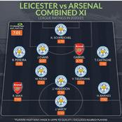Arsenal And Leicester City Combined Xi Players For Each Position