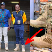 Here's The Price Of These Jungle Boots That DP Ruto And Dennis Itumbi Were Seen Wearing