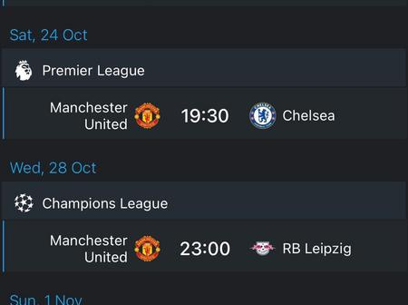 Checkout Manchester United's next four fixtures could make their fans worry a lot