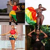 Photos Of Ghanaian Celebrities Displaying Their Beauty With The Colors Of Ghana Flag